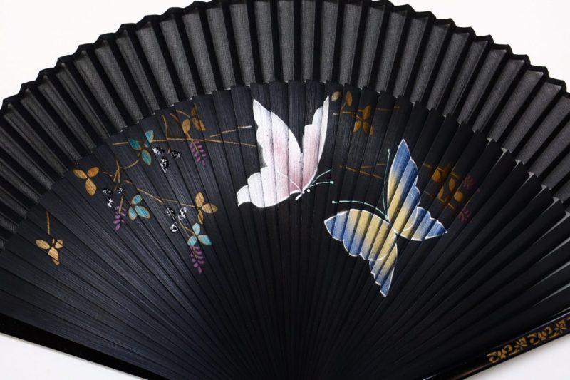 扇子2019・6種|洋装にもおすすめ、婦人用絹張りペンテ扇子ほか|扇子と各種ギフトにもお勧めな扇子セット|蝶、バラ、ダリア、桜