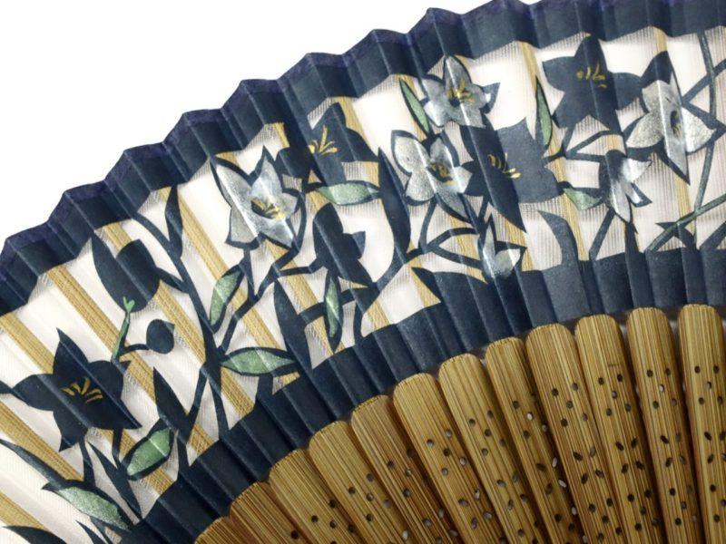 婦人用扇子2020・2種|羽二重絹扇子、桜、桔梗|京扇子