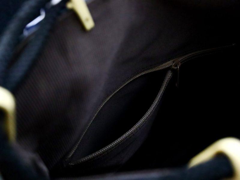 鹿革印伝信玄袋 合切袋 爪唐草