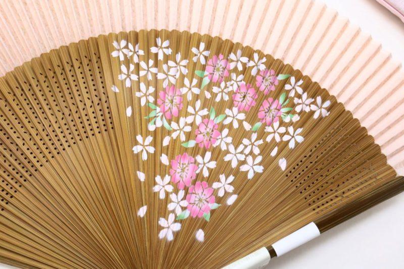 婦人用60間絹張扇子セット2019 桜