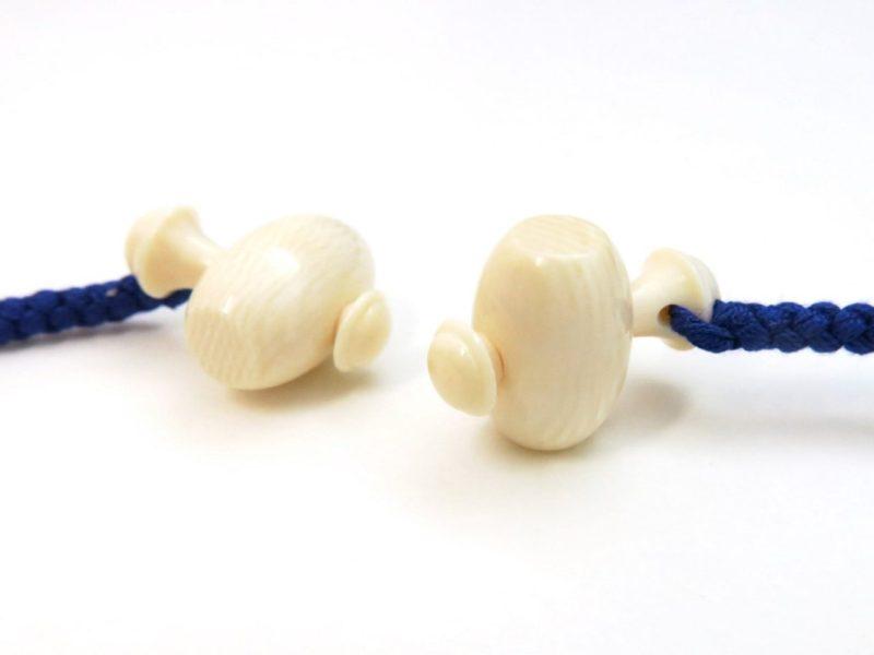象牙製の値付け2種|縁起物の茄子(なすび)と打ち出の小槌(こづち)