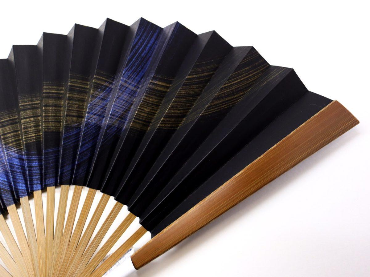 紳士用扇子2021・2種 渋く凛々しい8寸5分16間の一回り大きな京扇子。