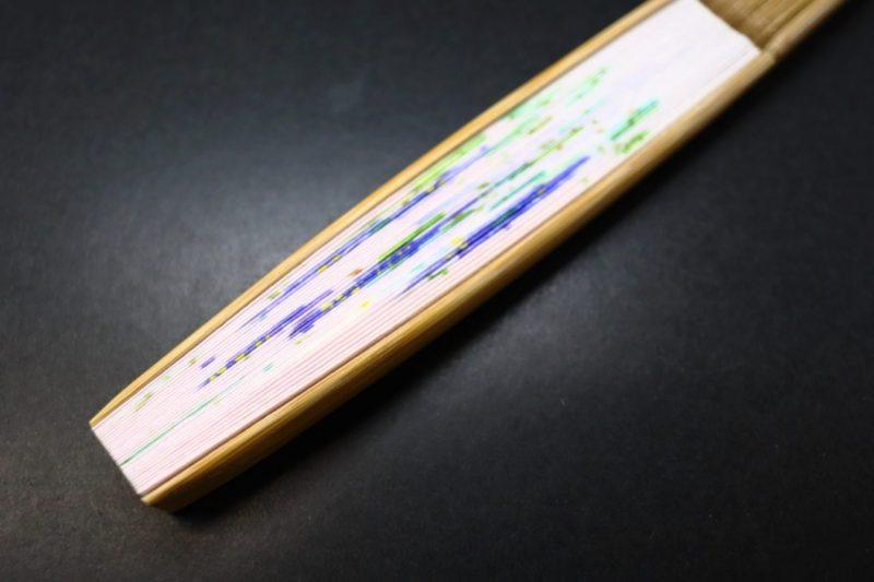 婦人用扇子2020・6種|ふわっとした優しい印象の雲竜紙を地紙に使用したちょっと贅沢な手描き京扇子。
