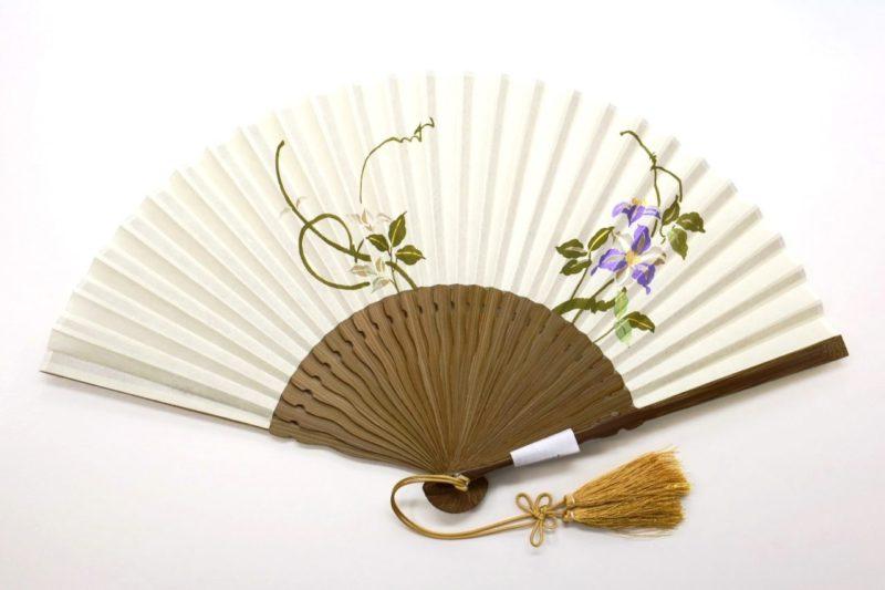扇子 絹張羽二重 京扇子 婦人用 鉄線