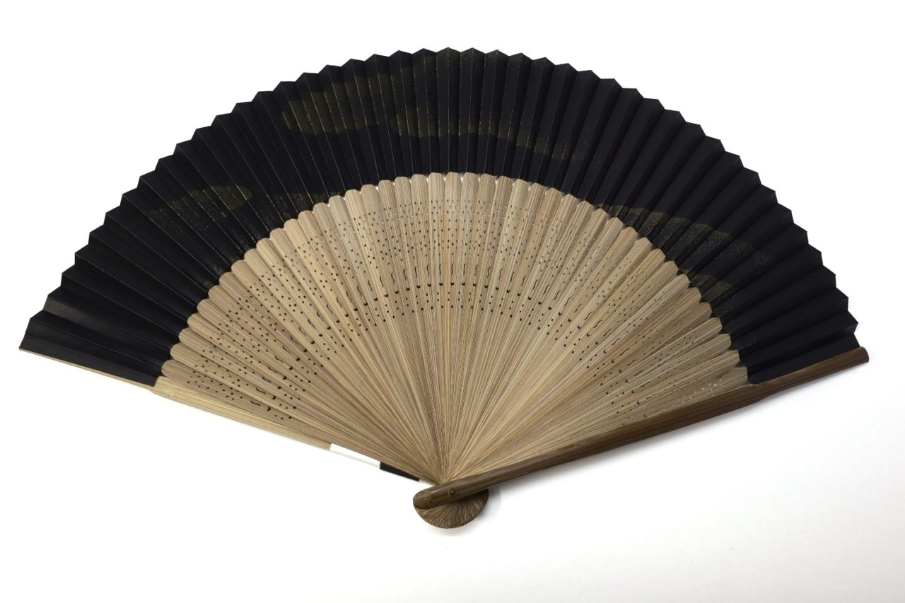 紳士用扇子2021・4種|京扇子、短地扇子、父の日ギフト、風神雷神、紙吹雪、富士山、青海波。