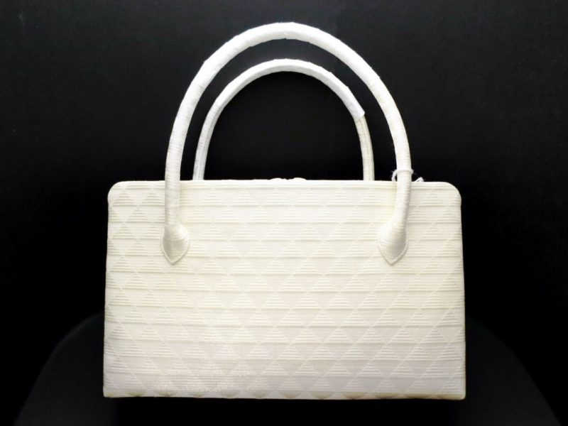 シンプルで軽い利休バッグ2020・八寸/九寸|魔除け厄除けの縁起物の総鱗文様の和装バッグ