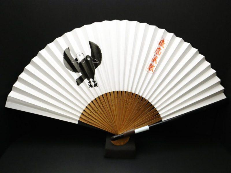 ヨゲンノトリの手描き京扇子2020・2種|疫病退散!