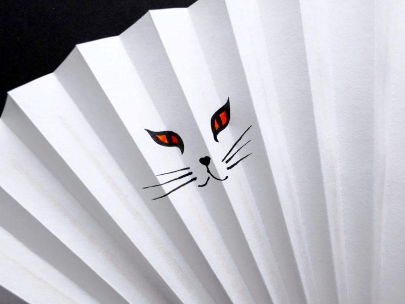 猫扇子2020・5種|婦人用京扇子