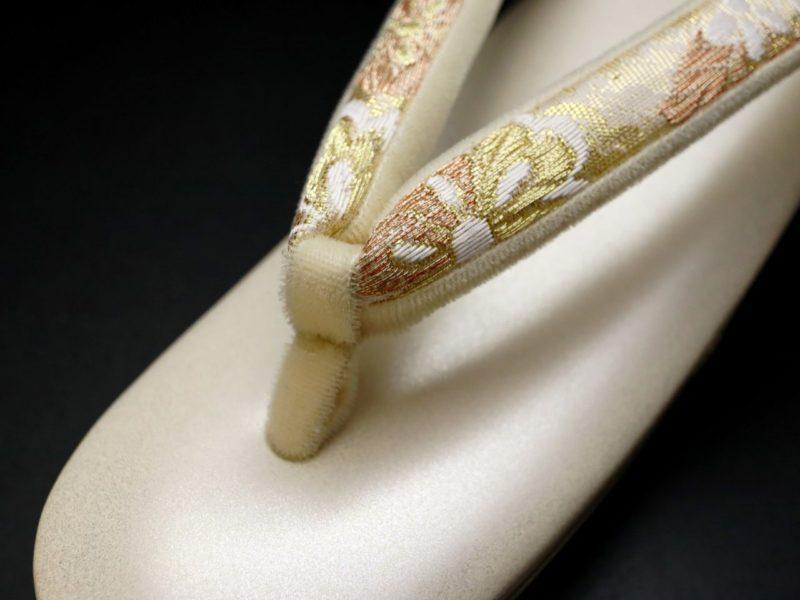 礼装用正絹和装バッグ草履セット|結婚披露宴、パーティー、吉祥唐草錦文様