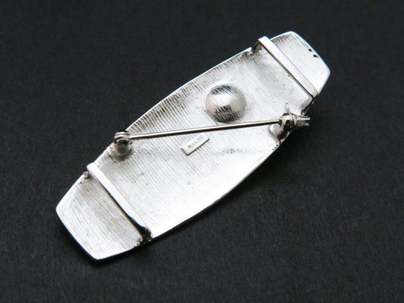帯留 銀製アコヤパール付き2WAY帯留