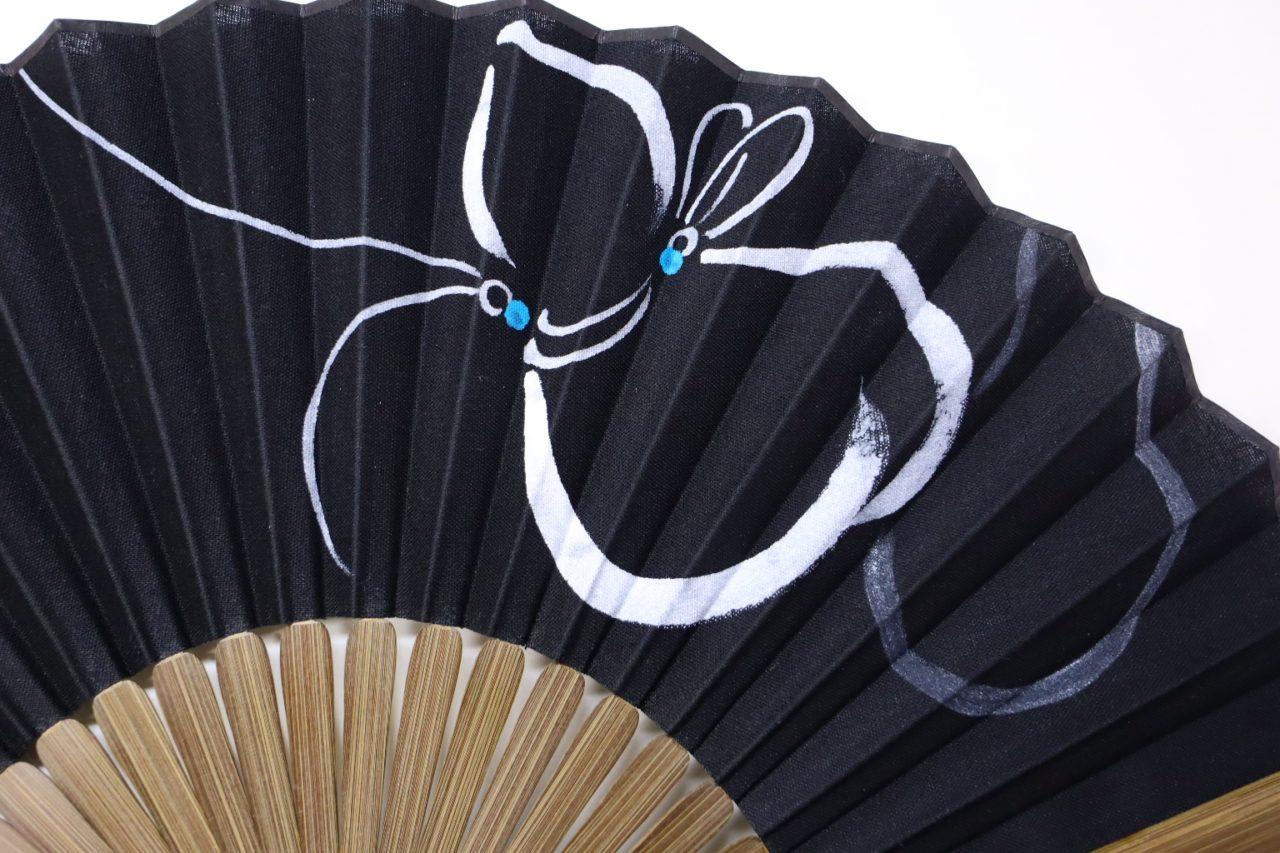 扇子セット2021・趣の異なる紳士用扇子4種|布扇、瓢箪、笹、蜻蛉|父の日、海外ギフト、各種贈答にお勧め。
