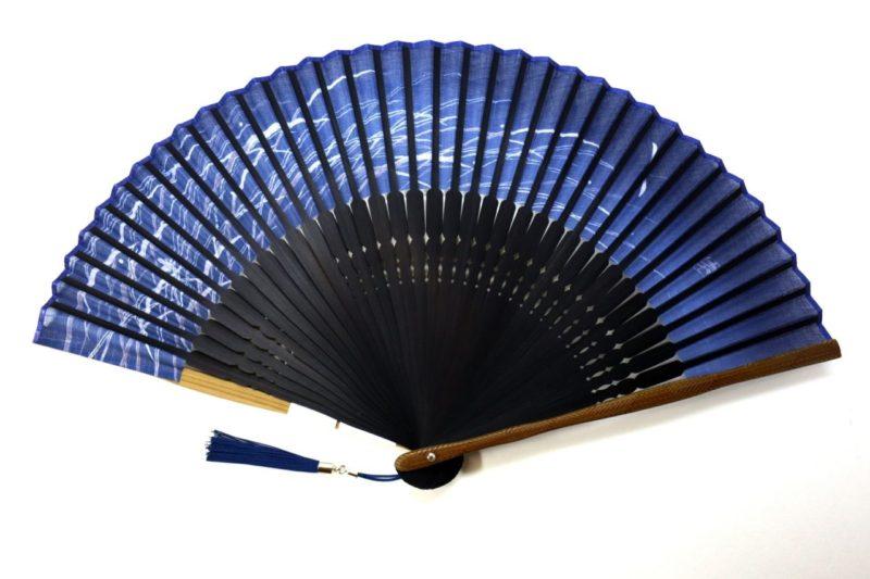 扇子セット2020・3種|紳士用羽二重7寸5分、勝ち虫、竹、露芝