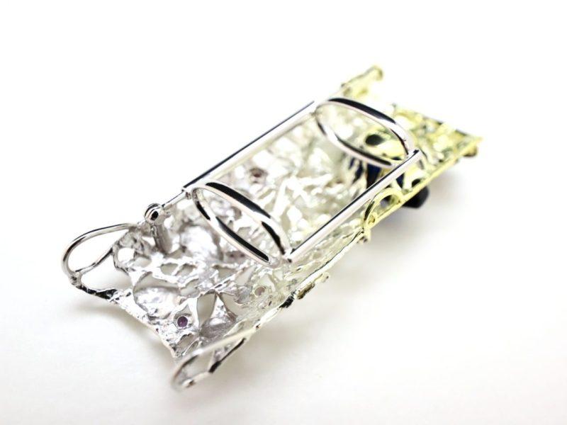 銀製帯留 三分紐