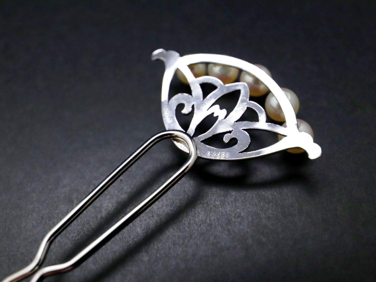 アコヤパール付き銀かんざし2021・2種 結婚披露宴、パーティーなど和装、洋装にもおすすめ