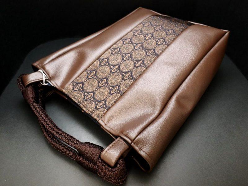 本場筑前正絹博多織帯地使用の紳士用手提げバッグ