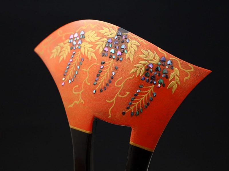 べっ甲藤螺鈿金蒔絵かんざし2020|子孫繁栄、長寿の象徴