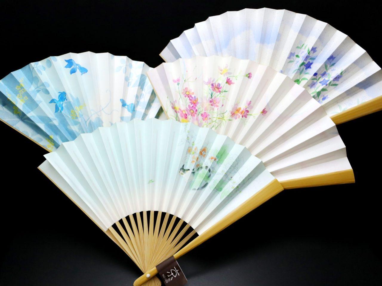 漆喰扇子|婦人用2021|抗ウイルス・抗菌・消臭機能付地紙使用の京扇子。